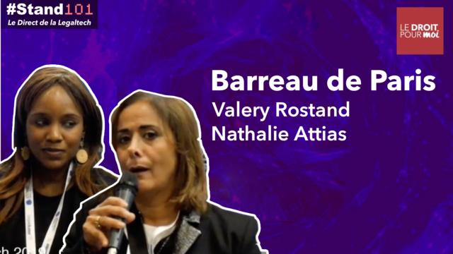 Stand101 avec Nathalie Attias et Valery Rostand évoquent l'incubateur du Barreau de Paris