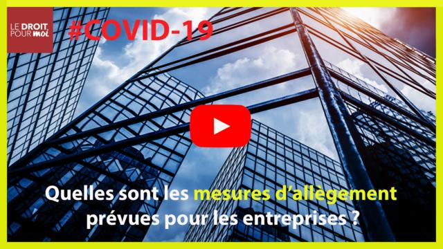 #Covid19 : Mesures d'allègement entreprises