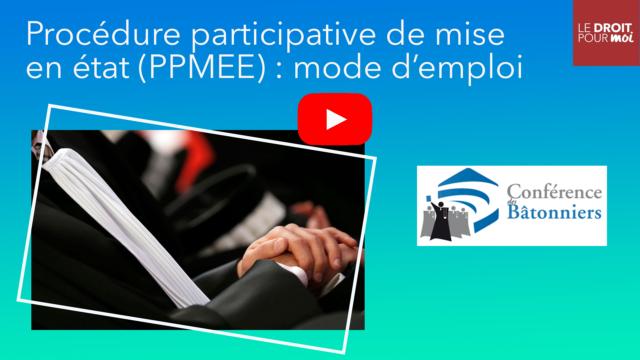Procédure participative de mise en état (PPMEE) : mode d'emploi