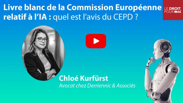 Livre blanc de la Commission Européenne relatif à l'IA : quel est l'avis du CEPD ?